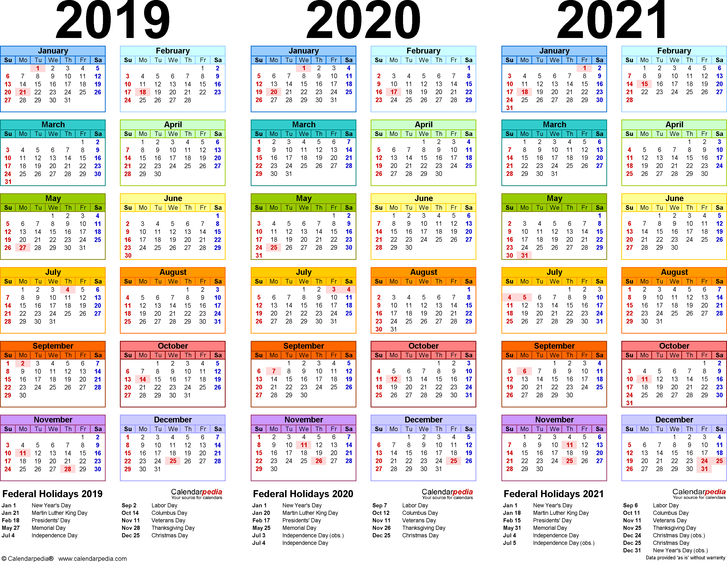 Yearly Calendar 2019 And 2021 Schedules and Events – Greate Bay Villas Condominium Association